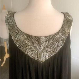 NWOT Calvin Klein black beaded dress